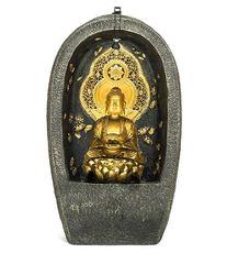Steinzeug Brunnen 3D mit Buddha