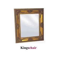 Spiegel gold mit Facettenschliff  77x87 cm