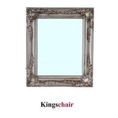 Spiegel silber mit Facettenschliff