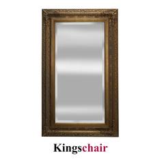 Spiegel Goldfarben mit Facettenschliff   120 x 200cm breiter Rahmen