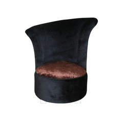 Round Chair schwarz/braun