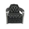 Aviators Armchair mit Knopfheftung schwarz