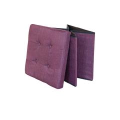 Hocker Leinen faltbar violett