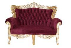 Barock Sofa Grande 2 Sitzer gold/bordeaux