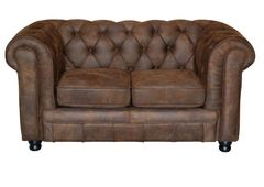 Sofa Oxford Chesterfield Wildlederoptik 2 Sitzer