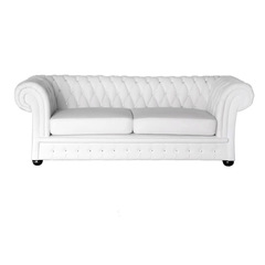 Classic Chesterfield Crystal weiss 3S