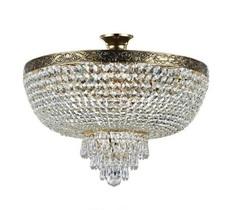 Kristall Kronleuchter D 500 gold