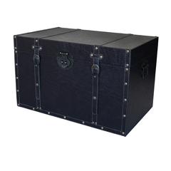 Truhe/Beistelltisch Quader schwarz 69cm