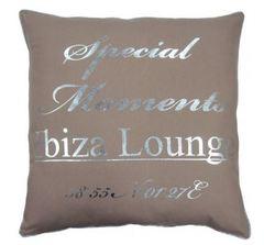 Ibiza Lounge Kissen beige 60x60