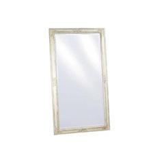 Spiegel weiss/silber mit Facettenschliff  r 72x132cm