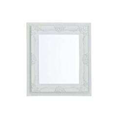 Spiegel weiss mit Facettenschliff  77x87 cm