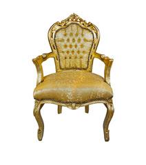 Barock Stuhl mit Armlehne gold