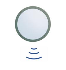 Sensor Wandleuchte, HF Aluled 12W IP65 3000K Alu