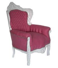 Barock Sessel weiss pink