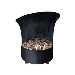 Round Chair schwarz/Leopard