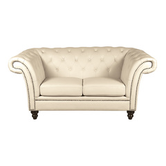 Victorian Chesterfield Sofa 2er perle