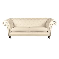 Victorian Chesterfield Sofa 3er perle