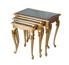 Barock Beistelltisch 3er Set gold