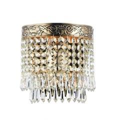 Kristall Wandlampe D 170 gold