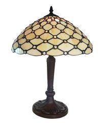 Tiffany Lampe Perlmutt Bogen 53cm