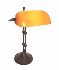 Banker Lampe Antik beige Duo 4360