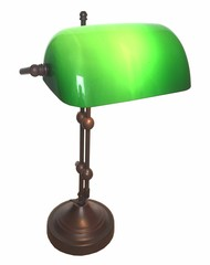 Banker Lampe grün