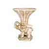 Steinguss Vase Gips Elefant