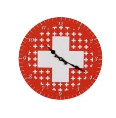 Wanduhr Schweizerkreuz