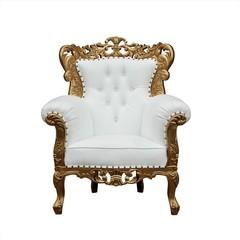 Kings Barocksessel Grande gold/weiss