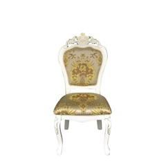 Barock Stuhl weiss gold Ornamente