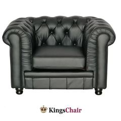 Oxford Chesterfield Sessel schwarz