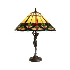 Tiffany Lampe Damenfigur
