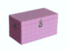 Glanz Truhe 58cm pink